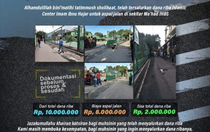 Info Penyaluran Dana Riba Islamic Center Imam Ibnu Hajar