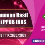 HASIL TES PPDB IHBS GEL 2