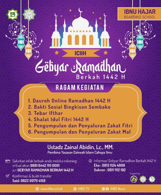 IHBS Mengadakan Program Gebyar Ramadhan 1442 H